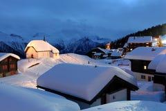 Bettmeralp,瑞士 免版税库存照片