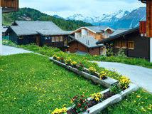 Bettmeralp village summer view (Switzerland) Royalty Free Stock Images