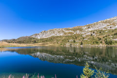 Bettmersee (Lake) in Valais stock images