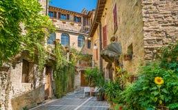 Bettona, malownicza wioska w prowincji Perugia Umbria, środkowy Włochy obraz stock