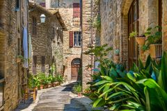 Bettona, picturesque village in the Province of Perugia. Umbria, central Italy. stock photography