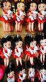 Betty Boop Plush Toys Fotografering för Bildbyråer