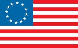 Betty ross american flag. Betty Ross American / America vector flag illustration Royalty Free Stock Photos