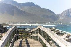 Betty ` s zatoki krajobrazu widok w Południowa Afryka Obrazy Stock