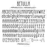 Betulla - modern rundad grotesk stilsort royaltyfri illustrationer