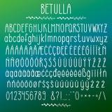 Betulla - modern rundad grotesk stilsort stock illustrationer