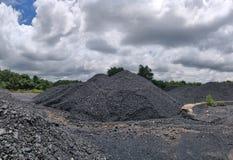 Betuminoso à armazenagem de carvão antracífero imagem de stock