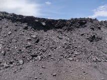 Betuminoso - carvão antracífero, armazenagem de carvão do nível superior fotografia de stock royalty free