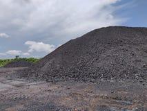 Betuminoso - carvão antracífero, armazenagem de carvão do nível superior fotos de stock royalty free