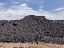 Betuminoso - carvão antracífero, armazenagem de carvão do nível superior fotografia de stock