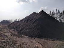 Betuminoso - carvão antracífero, armazenagem de carvão do nível superior imagem de stock