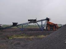 Betuminoso secundário - armazenagem de carvão betuminoso foto de stock