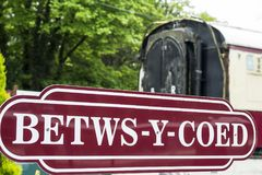 Betws-y-Coed sign. A Betws-y-Coed place sign royalty free stock photo
