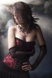 beuatiful κορίτσι goth ρομαντικό Στοκ εικόνες με δικαίωμα ελεύθερης χρήσης
