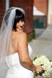 Beuatiful Braut mit Blumen Stockfotos