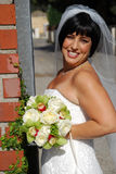 Beuatiful Bride with Flowers Stock Photography