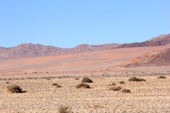 Beuatiful bright colors Namib Desert, Namibia stock photo