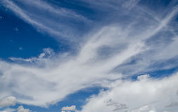 Beuatiful clouds in spring time Royalty Free Stock Image