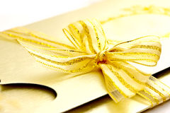 Beuatiful golden wedding card Royalty Free Stock Photography