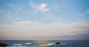 Beuatiful havsikt Punta Mita, Mexico Fotografering för Bildbyråer