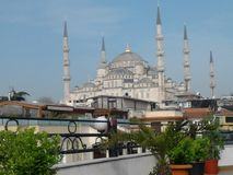 The beuatiful Istanbul. Istanbul`s strategic position on the historic Silk Road,[13] rail networks to Europe and the Middle East, and the only sea route between Royalty Free Stock Images