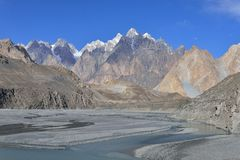 Beuatiful landscape of Northern Pakistan. Passu region. Royalty Free Stock Images