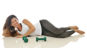 Beuatiful multiethnic woman working out Royalty Free Stock Image