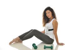 Beuatiful multiethnic woman working out Stock Photography