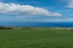 Panoramic view of the Kohala Coast on the Big Island of Hawaii taken higher elevation Royalty Free Stock Images