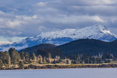 Beuatiful scenic of lake te anau important traveling destination Royalty Free Stock Photography