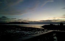 Beuatiful-Sonnenuntergang Stockbild