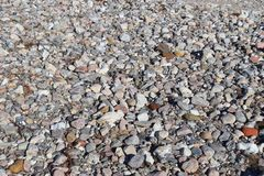 Beuatiful stone pebbles at the beach of the baltic sea in the north of germany stock photography