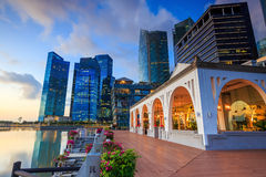 Beuatiful sunrise in the morning at Singapore Royalty Free Stock Photos