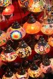 Beuatiful traditionella lampor Arkivfoton