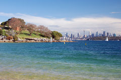 Beuatiful view of Sydney from Lady Bay Stock Images