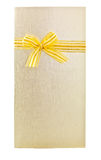 Beuatiful wedding card with ribbon. On white background Stock Photos