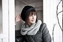 Beuatiful Woman In Winter Clothes Royalty Free Stock Photo