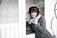 Beuatiful Woman In Winter Clothes Royalty Free Stock Images