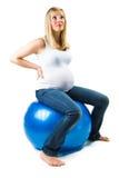 Beuautiful怀孕的白种人妇女 免版税库存照片