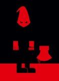 Beul in masker en met een bijl Enge Punisher tribunes binnen royalty-vrije illustratie