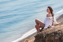 Beundra havet Royaltyfria Foton