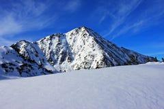 Beundra Retezaten nå en höjdpunkt i Retezat berg, Rumänien Arkivfoton