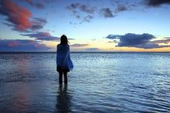 beundrad solnedgång fotografering för bildbyråer