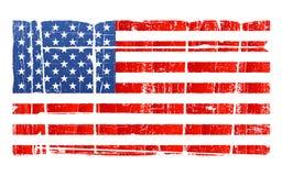 Beunruhigte amerikanische Staatsflagge Lizenzfreies Stockbild