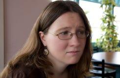 Beunruhigte Frau Lizenzfreies Stockfoto