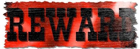 Beunruhigtes rotes Belohnungs-Zeichen Lizenzfreies Stockbild