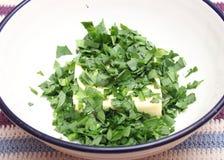 Beurre avec des herbes Image libre de droits
