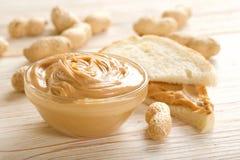 Beurre d'arachide photo stock