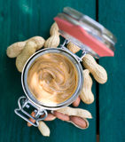 Beurre d'arachide Photos libres de droits