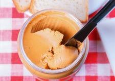 Beurre d'arachide Photo libre de droits